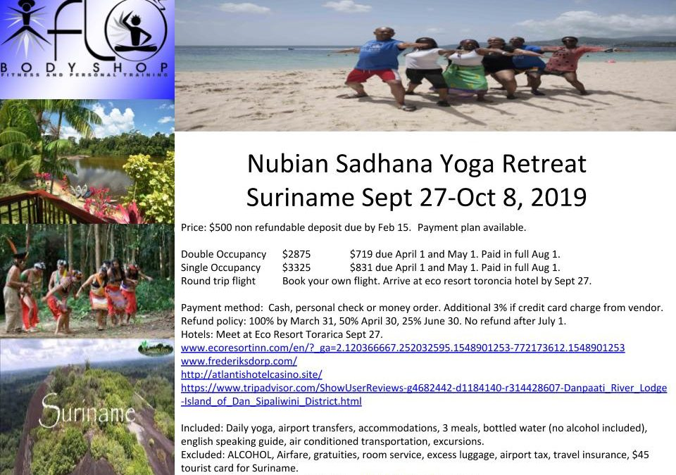 Nubian Sadhana Suriname Yoga Retreat 2019