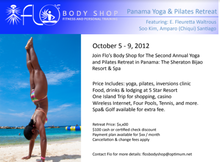 Panama Yoga & Pilates Retreat 2012